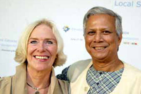 Nancy Wimmer and M.Yunus Nobel Laureate